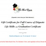 Gift Certificate Full Course with Graduation Certificate