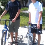Brandon and Blake Halim with bikes