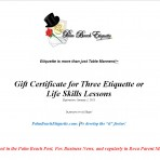 Gift Certificate Three Classes