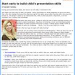Teach A Child Presentation Skills